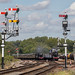 LMS 8F 48624 as 48476 and BR Class 5MT 73156 as 73069 pass BR Class 2MT 78018 at Swithland