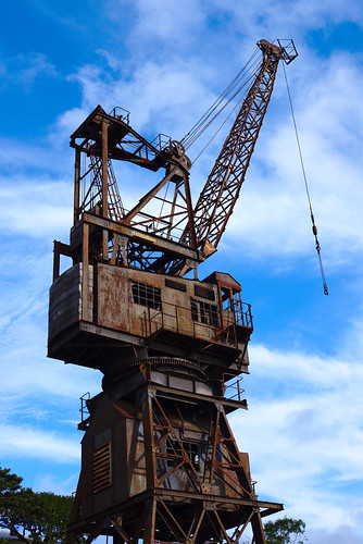 Disused crane, Cockatoo Island