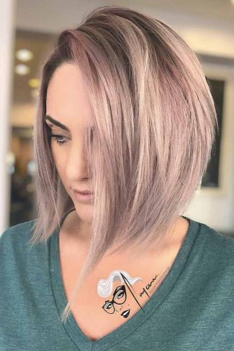 Latest Bold & Daring Asymmetrical Bob Haircuts+40 Shapely Styles 15