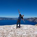 David flying high in Crater Lake by daveynin