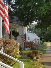 Flags Along Streets Of Eaton, Ohio