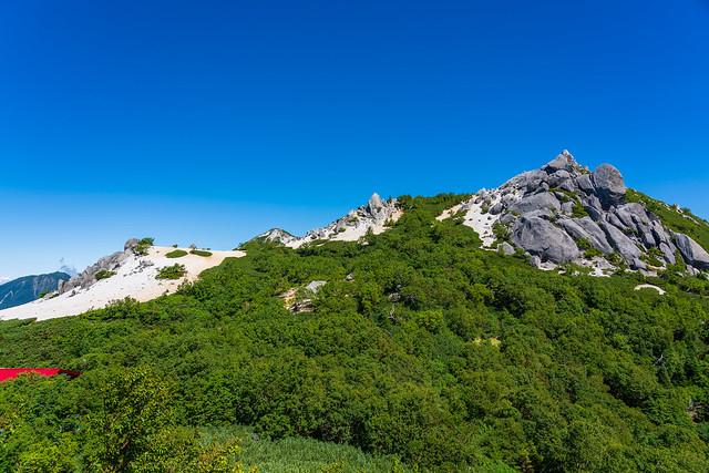 砂払岳を越えて薬師岳と観音岳