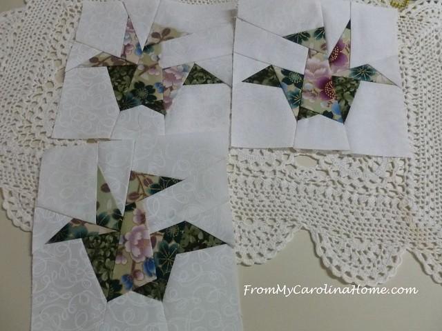 Paper Pieced Cranes Orizuru at From My Carolina Home