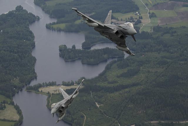 Eurofighter Ala 11 en misión de policia aérea del Báltico