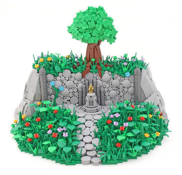 Mountaintop Shrine LEGO arbre
