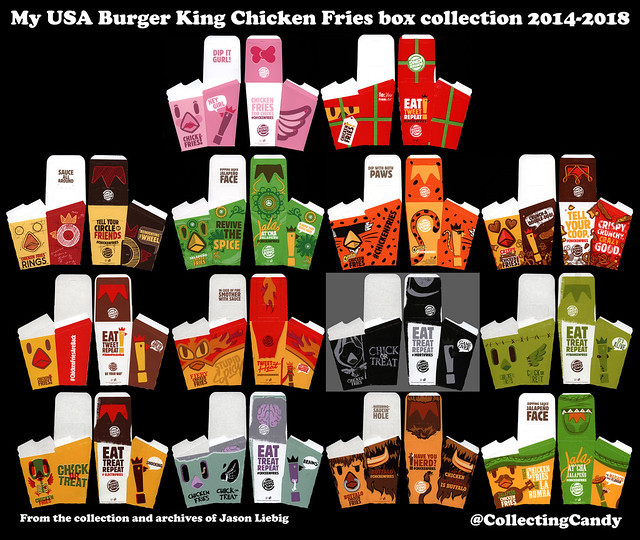 My USA Burger King Chicken Fries box collection - August 2018