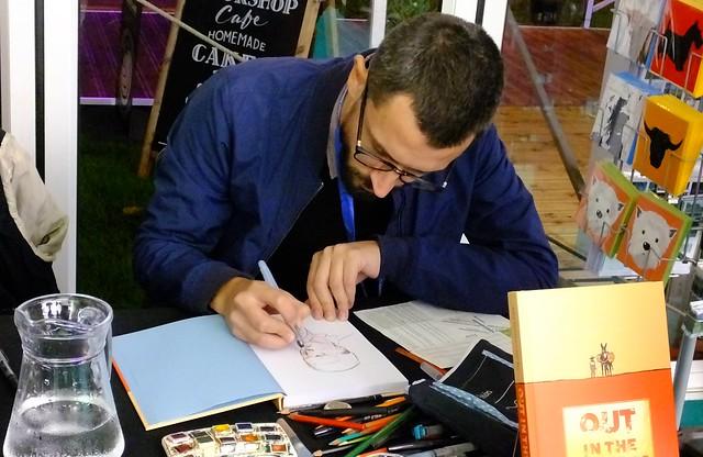 Edinburgh International Book Festival 2018 - John Dunning Michael Kennedy and Javi Rey 02
