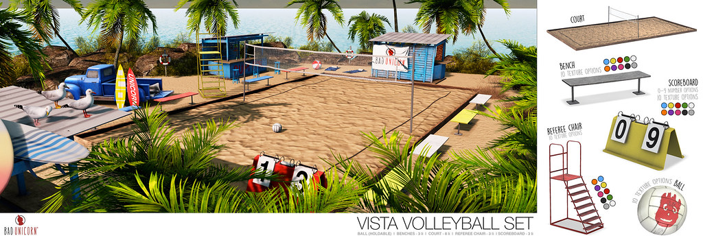 NEW! Vista Volleyball Set @ KUSTOM9
