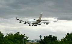 Atlas Air Boeing 747-400 N322SG Manchester United FC football team cha
