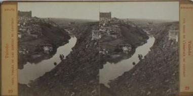 Vista de Toledo en 1863 por Ernest Lamy. Número 29 de su colección, con el título Vue de Tolède prise de l´Ermitage de Santiago
