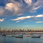 5. Jaanuar 2018 - 20:31 - Lineup of boats at St Kilda marina under some amazing clouds.