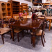 Mahogany extendable table with 6 chairs E900 set