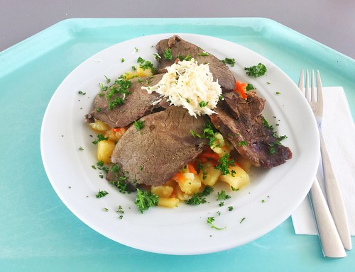 Munich prime boiled beef with bullion potatoes / Münchner Tafelspitz mit Boullionkartoffeln