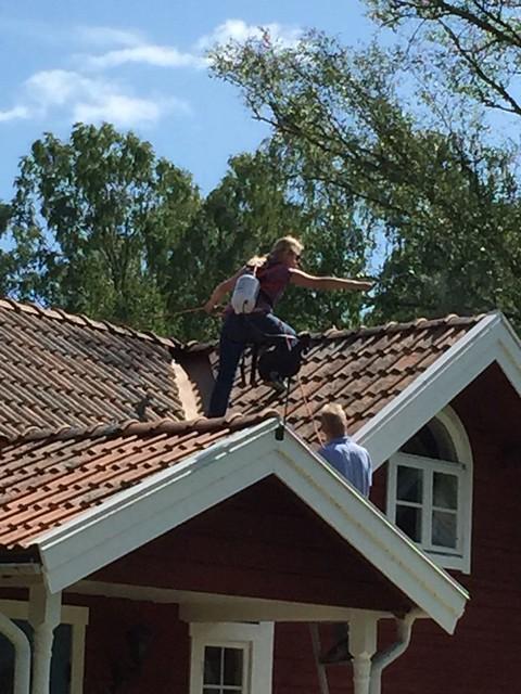 Lördags äventyr på taket
