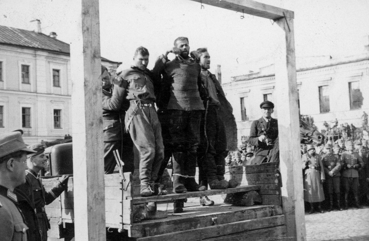 1942. Казнь советских подпольщиков в Могилеве