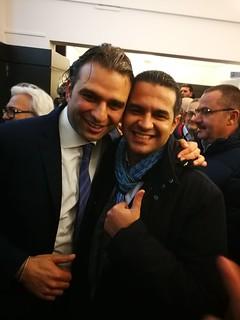 Domenico Pellegrini e il neo sindaco monopolitano Angelo Annese