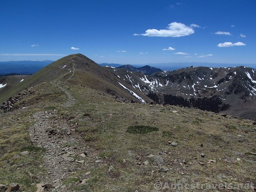 Wheeler Peak from Mt. Walker in Carson National Forest, New Mexico