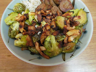 Roasted Brussels Sprouts and Coconut Bacon