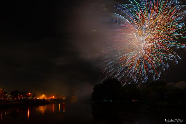 Last Year's Rainy Night Fireworks