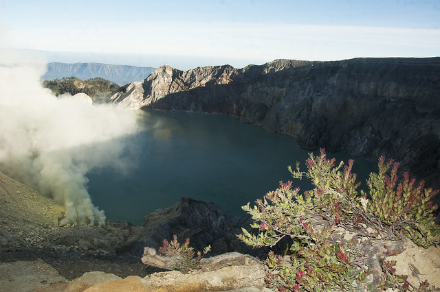 Ijen crater lake