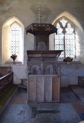 pulpit (17th Century) and stall (15th Century)