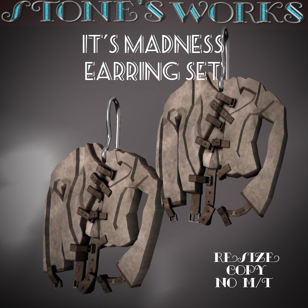 It's Madness Earring Set Stone's Works - TeleportHub.com Live!