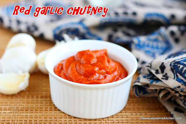 Red garlic chutney for chaat