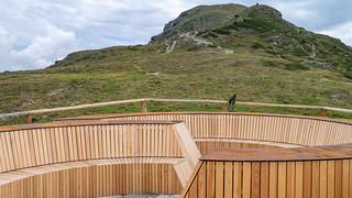 Aussichtsplattform auf dem Tellajoch, Tellakopf