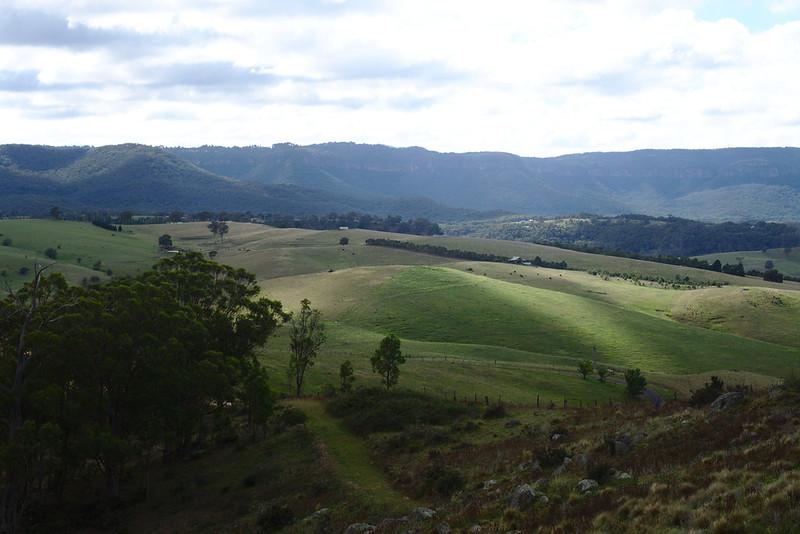 Sunlight rolling on hills, Kanimbla Valley