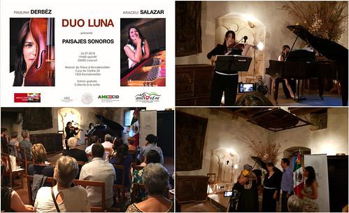 """Concierto Paisajes Sonoros a cargo del dúo Luna """"Derbéz.- Salazar"""" en Romainmotier"""