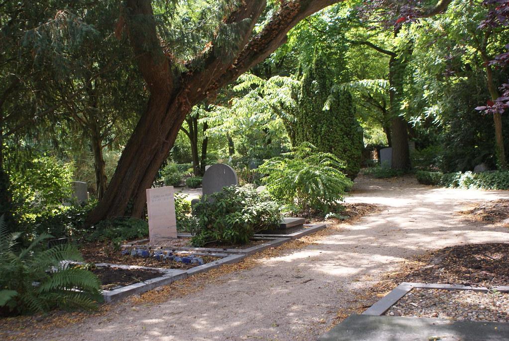 Sentier du cimetière Zorgvlied à Amsterdam.