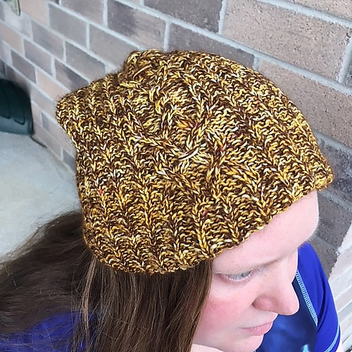 Sandi's Western Slope Beanie Test knit