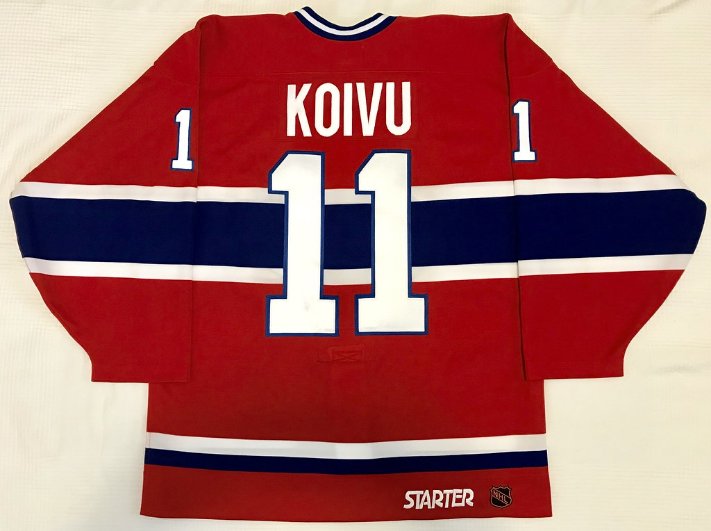 1997-98 Saku Koivu Montreal Canadiens Away Jersey Back