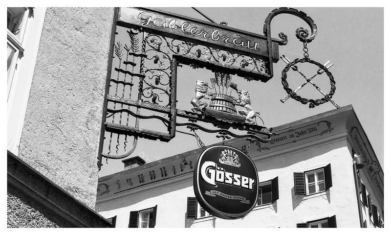 salzburg Gosser sign