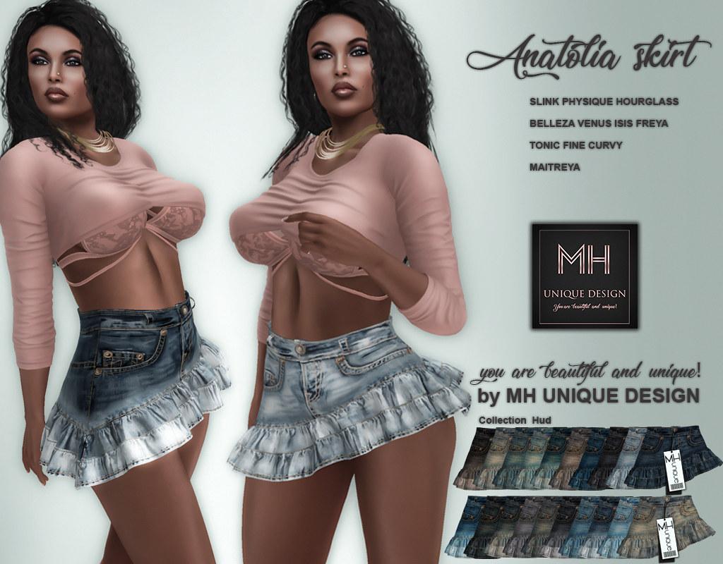 MH-Anatolia Skirt Denim Collection - TeleportHub.com Live!