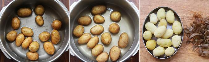 How to make baby potato manchurian recipe - Step1