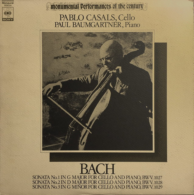 Pablo Casals Cello Sonata CBS Sony