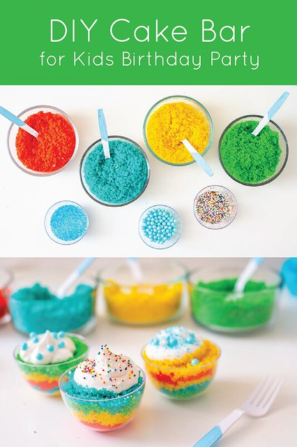 Kids Birthday Party: DIY Cake Bar