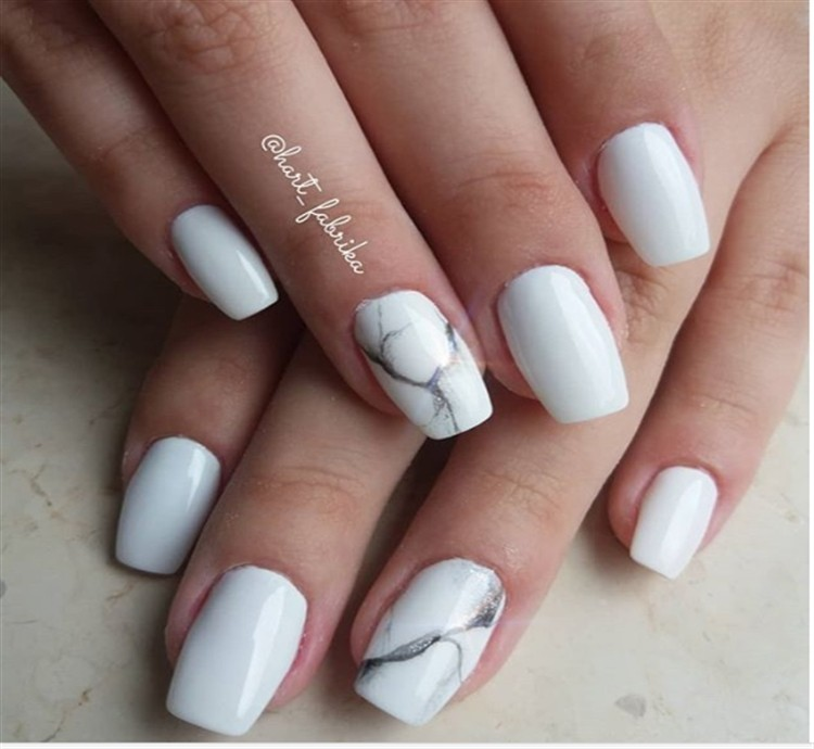 30 Amazing White Gel Nail Art Design Ideas Fashonails