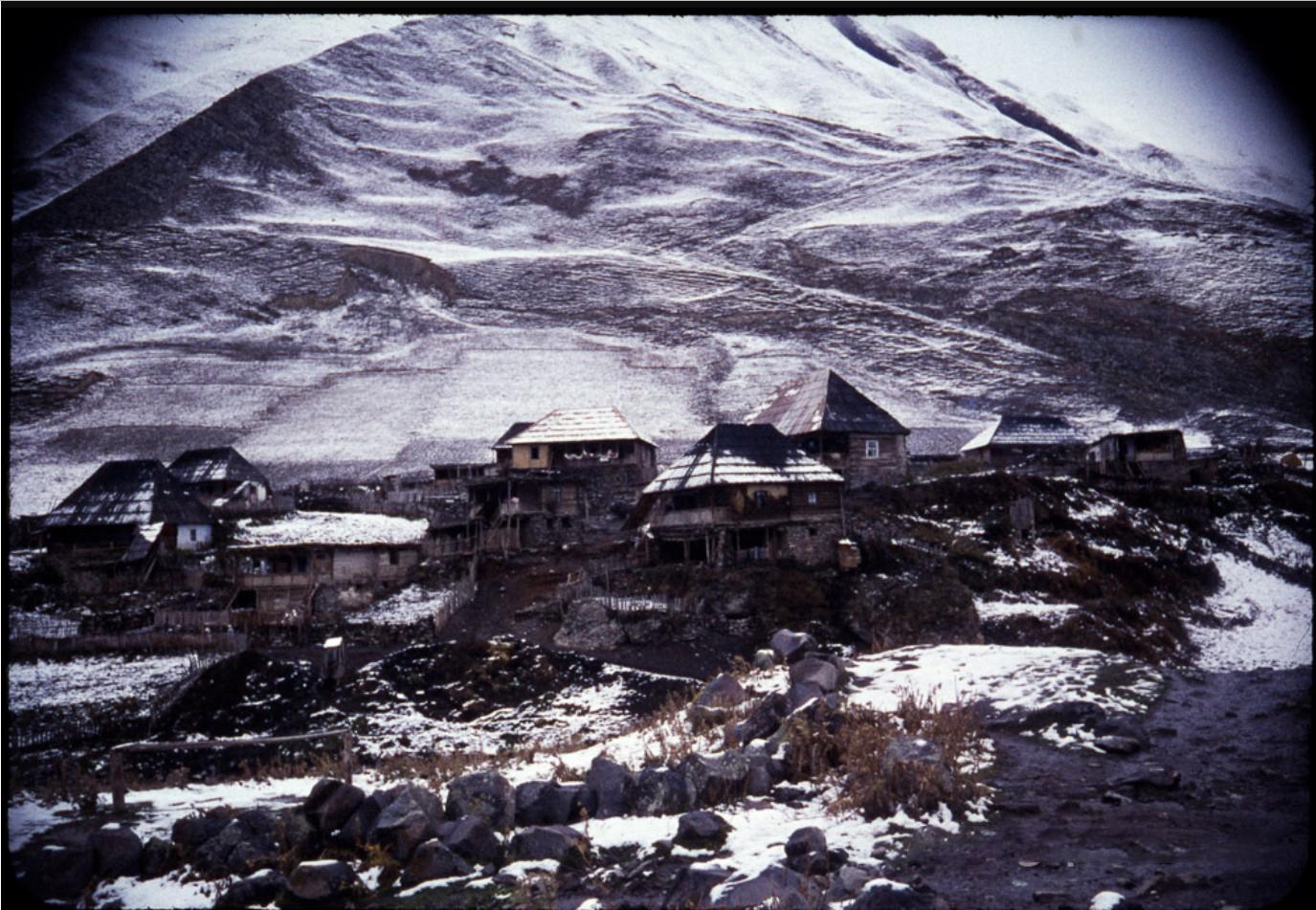 Грузинская деревня в гора