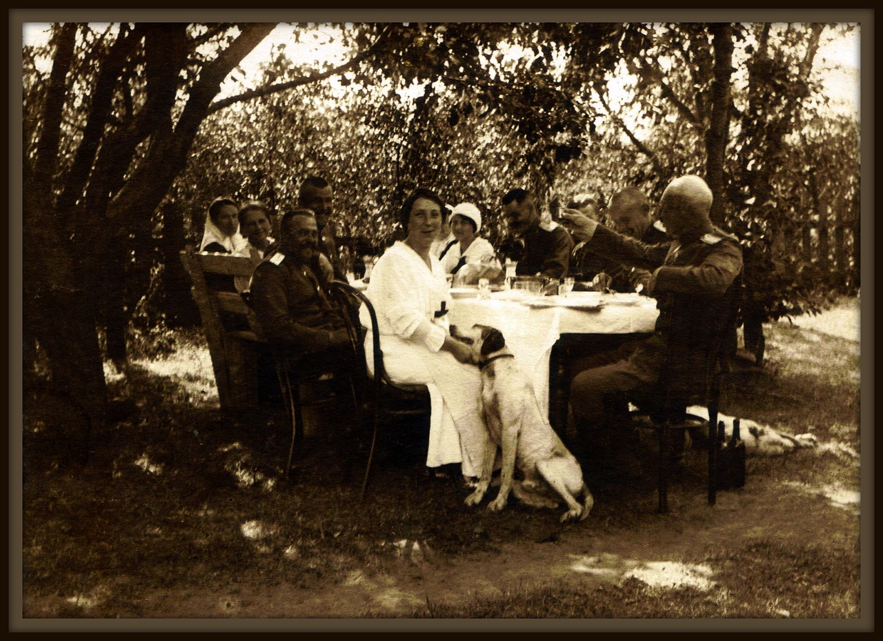 Военные врачи 294-го полевого запасного госпиталя. 1916