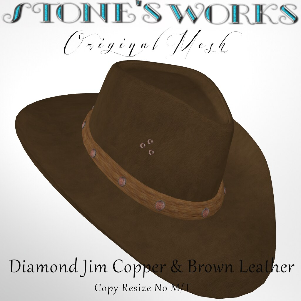 Diamond Jim Copper & Brown Leather Stone's Works - TeleportHub.com Live!