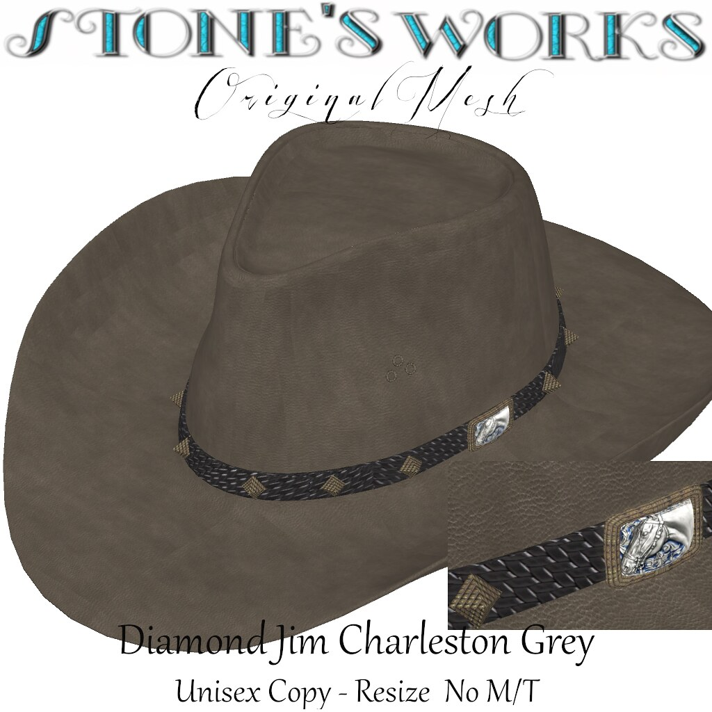 Diamond Jim Charleston Grey Stone's Works