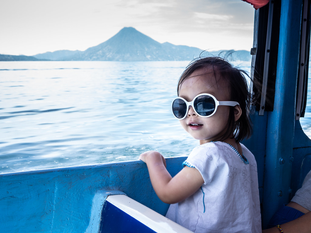 Clem on Lago Atitlán