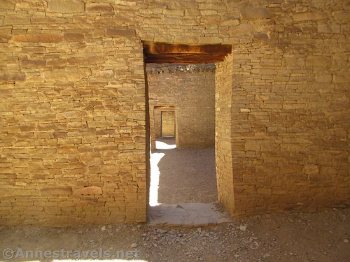 Doorways in Pueblo Bonito, my favorite of all the Native American ruins I've seen, Chaco Culture National Historical Park, New Mexico