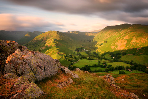 hallin fell hallinfell martindale morning light view lake district national park lakedistrict cumbria england united kingdom great britain landscape longexposure scenery countryside june sunrise shadow clouds rocks outdoor nature