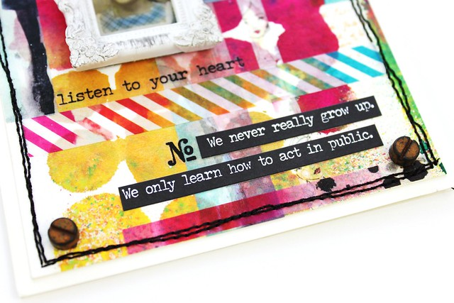 Meihsia Liu Simply Paper Crafts Mixed Media Card Simon Says Stamp Jane Davenport Tape 6