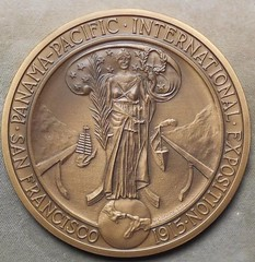 1979 Panama Canal 75th Anniversary Medal reverse