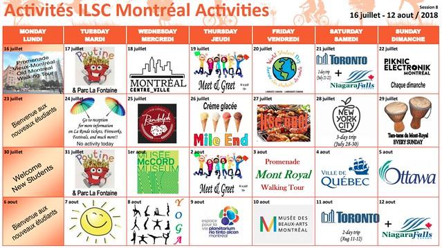 ILSC Montréal Activités