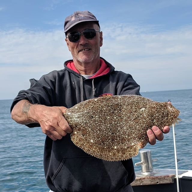 2nd place in Weymouth's Turbot and Brill Competition for John Sherman on Amarisa #amarisaweymouth #weymouth #brill #fishinguk #fishingtrip #fishingtrips